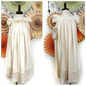 NWT Vintage 100% Silk Flower Girl Ocassion Dress
